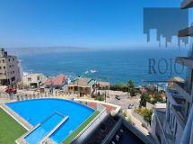 Reñaca, gran vista al mar, 2 dormitorios, terraza, estacionamiento